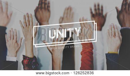 Unity Teamwork Togetherness Support Partnership Concept