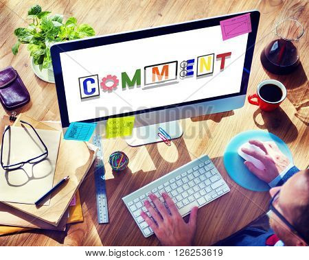 Comment Social Media Social Networking Observation Concept