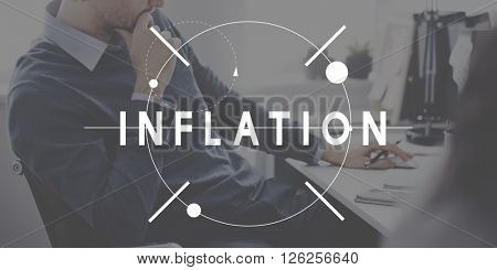 Inflation Recession Financial Crisis Depression Concept