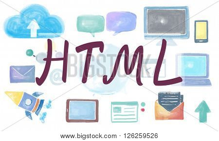 Domain Homepage HTML Links Global Connection Concept