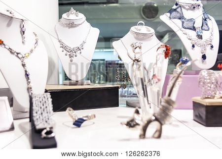 Jewelery Exposed In The Store