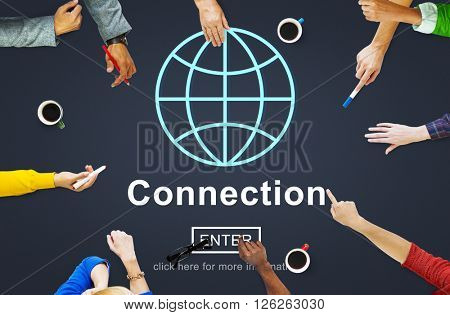 Connection Associated Social Networking Togetherness Concept