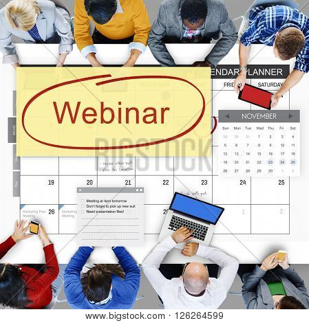Webinar Technology Webcast Website Concept
