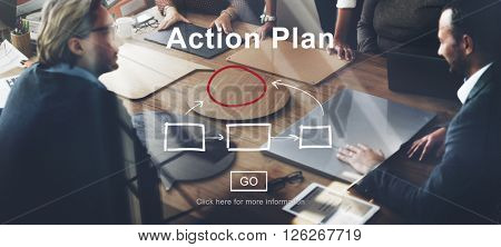 Action Plan Planning Strategy Vision Tactics Objective Concept