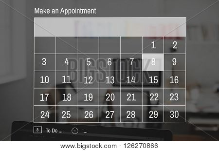 Day Date Month Year Holiday Deadline Planning Concept
