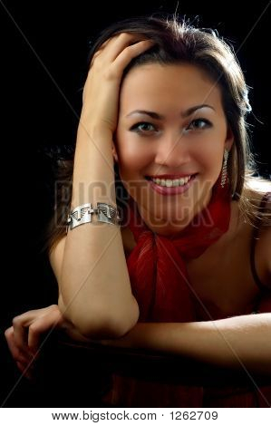 lächelnd lady