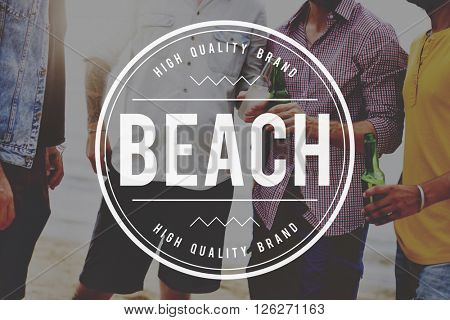 Beach Summer Time Vacation Holiday Relaxation Concept