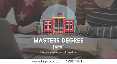 Academic Education Master Degree Study Concept