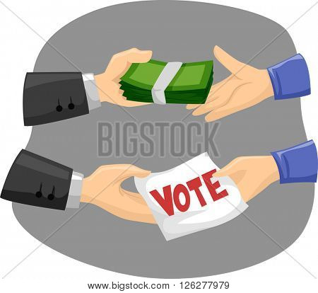 Illustration of Political Candidates Buying Votes