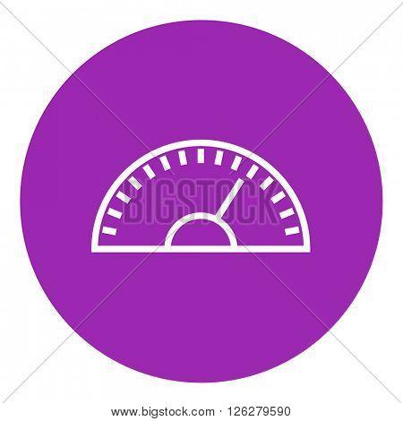 Speedometer line icon.