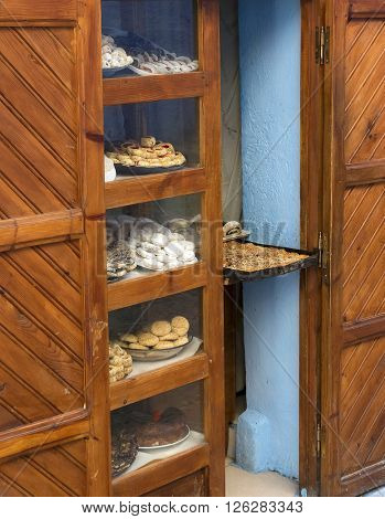 Bakery in Chefchaouen, Morocco, Africa