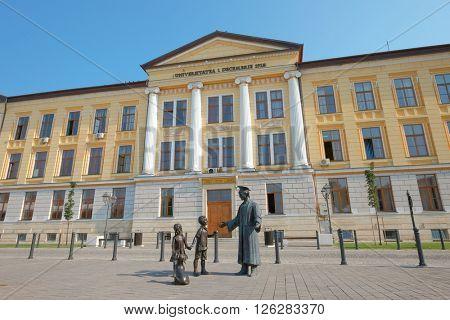 ALBA IULIA, ROMANIA - AUGUST 12, 2015: University of Alba Iulia in Carolina Citadel, Romania