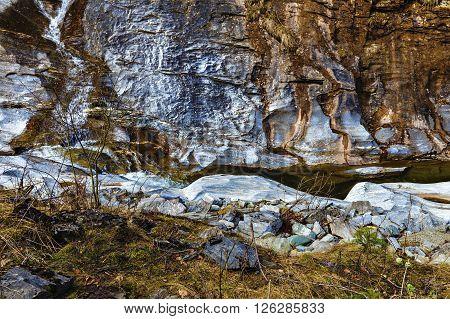Landscape With Latoritei River In Romanian Carpathian Mountains