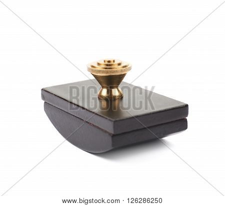 Blotting paper ink press isolated over the white background