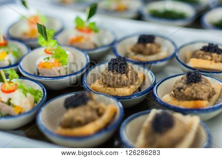 Canape Of Caviar On Top