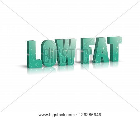 low fat - 3d word with reflection !