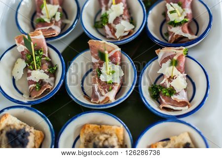 Canape Of Slice Roast Beef