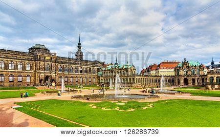 Courtyard of Zwinger Palace in Dresden - Saxony, Germany