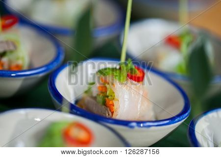 Canape With Fresh Spring Rolls