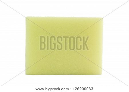 Isolated closeup scrub sponge or disk sponge on white background