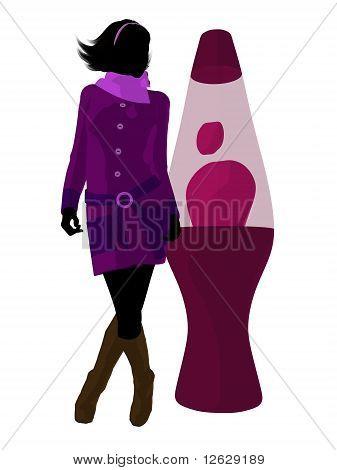 Disco Girl Silhouette Illustration
