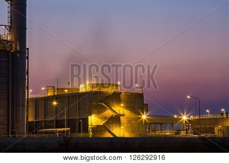 Cooling Tower At Twilight