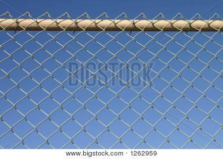 Metal Chain Link Perimeter Security Fence.