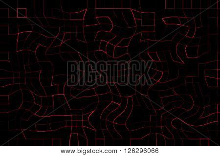 Red Colour Abstract Curve Line With Square Pattern Modern Light Background