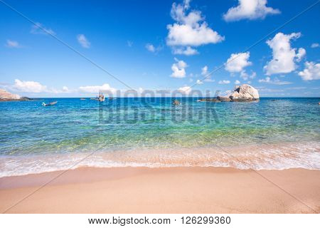beach and tropical sea, koh Tao, Thailand