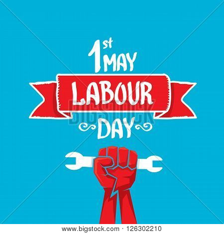 1 may - labour day. vector labour day poster or workers day banner