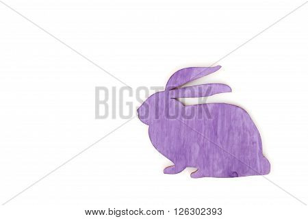 Close-up of purple rabbit silhouette on a white background
