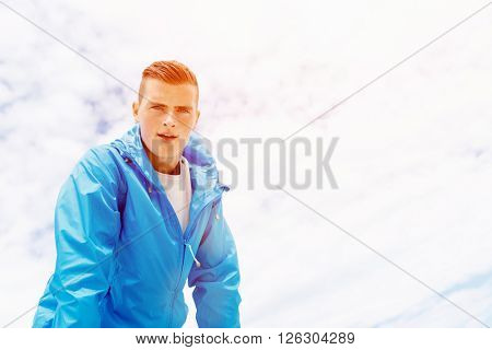 Athlete man tired after long running