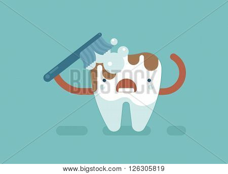 Brush tooth for clean ,dental concept design