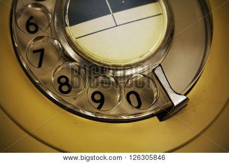 Old Retro Style Rotary Telephone