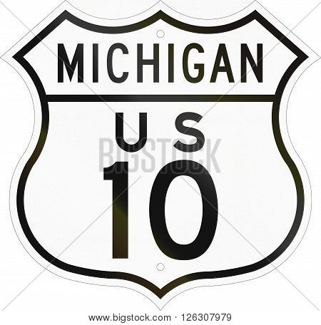 Historic Michigan Highway Route Shield From 1948 Used In The Us
