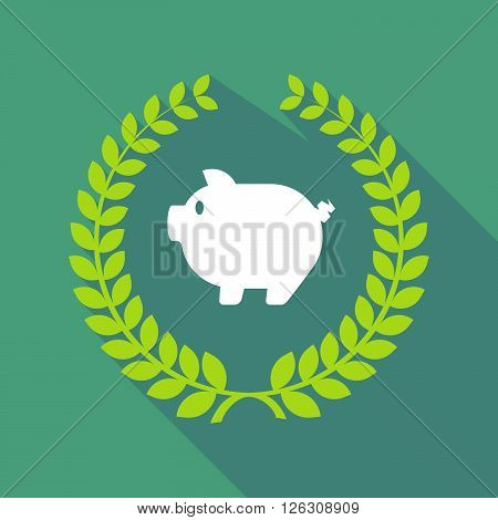 Long Shadow Laurel Wreath Icon With A Pig