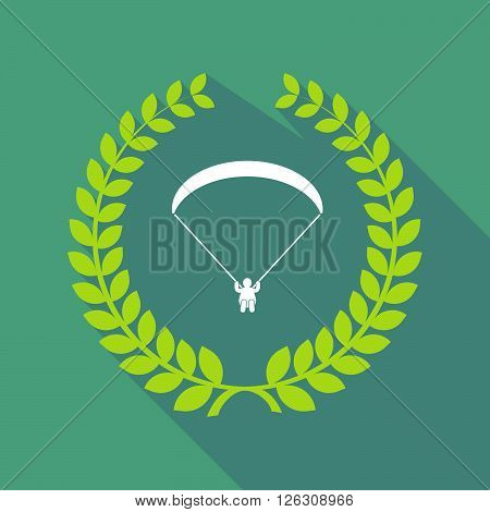 Long Shadow Laurel Wreath Icon With A Paraglider