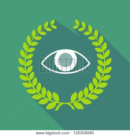 Long Shadow Laurel Wreath Icon With An Eye