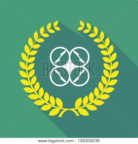 Long Shadow Laurel Wreath Icon With A Drone