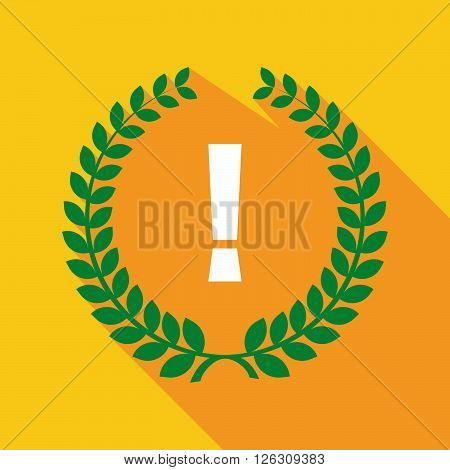 Long Shadow Laurel Wreath Icon With An Admiration Sign