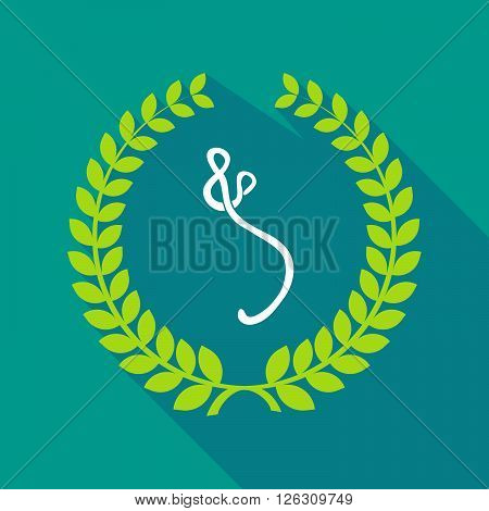 Long Shadow Laurel Wreath Icon With  An Ebola Sign