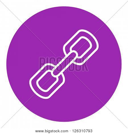 Chain links line icon.