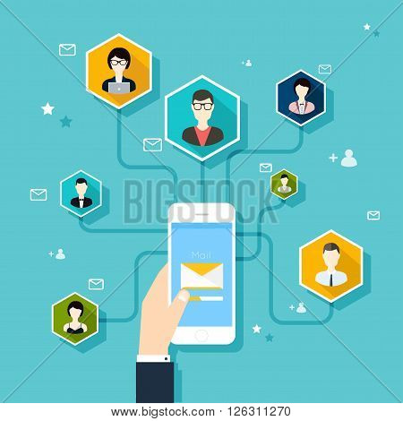 Marceting ?oncept Of Running Email Campaign, Email Advertising, Direct Digital Marketing.