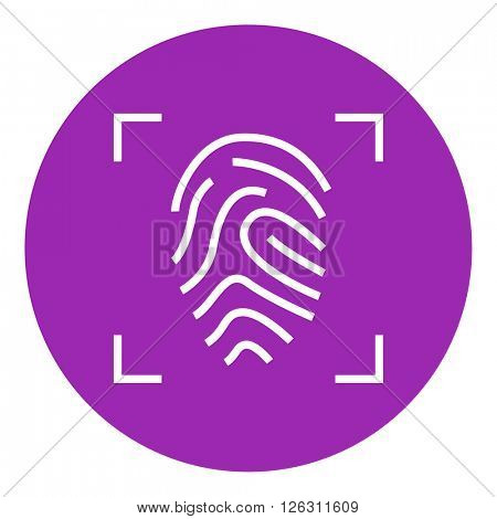 Fingerprint scanning line icon.