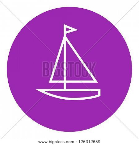 Sailboat line icon.