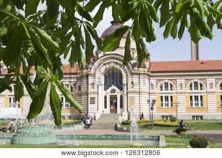 Sofia, Bulgaria - April 14: Central Public Mineral Bath House In Sofia, Bulgaria On April 14, 2016