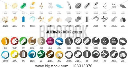 Big set of different kinds of allergies icons