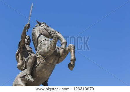 Warrior On A Horse Statue