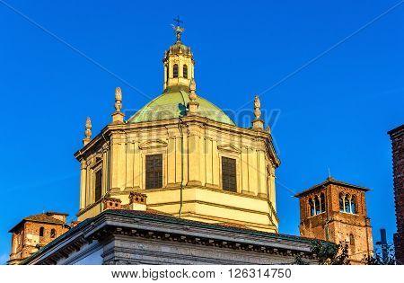 The Basilica of San Lorenzo Maggiore in Milan, Italy