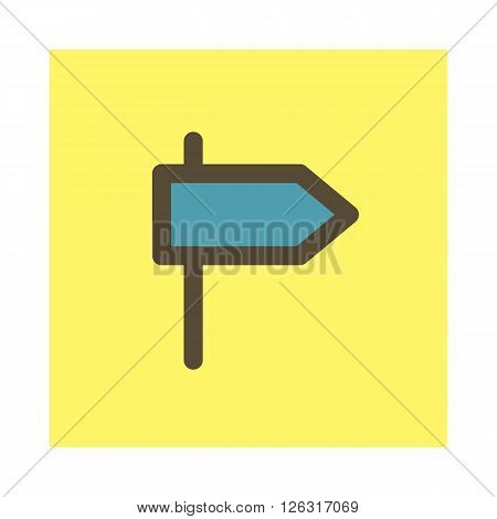 Road Signpost vector icon travel illustration eps 10
